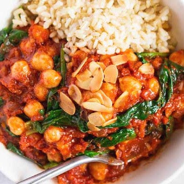 Chickpea & Spinach Stew