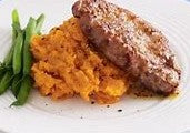 Beef Tenderloin steak w/ Sweet Potato Mash