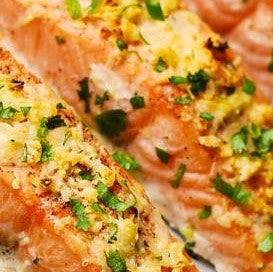 garlic parmesan salmon