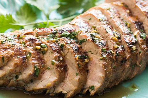 Grilled Pork Tenderloin. Healthy Cooked Meals.