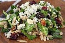 Mix Greens Salad with Raspberry  Vinaigrette.