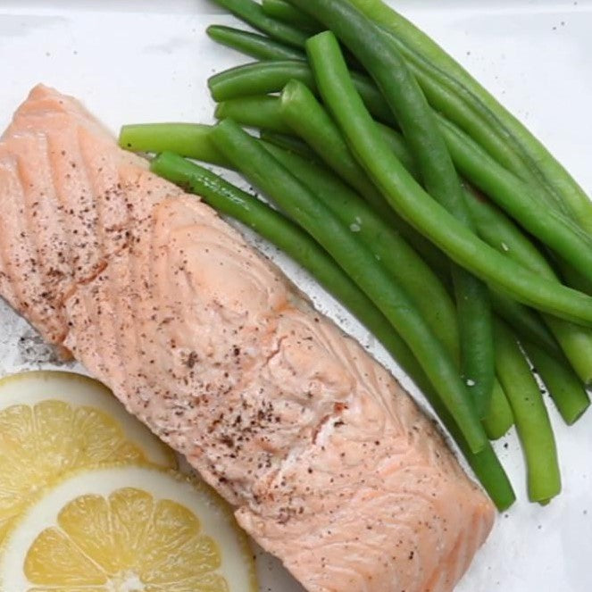 Poached Salmon-Low Carb