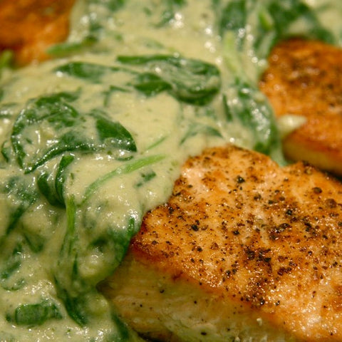 Salmon W/ Creamed Spinach