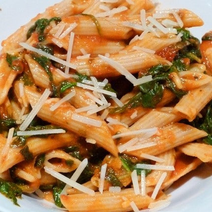 Penne W/ Spinach & Tomatoes