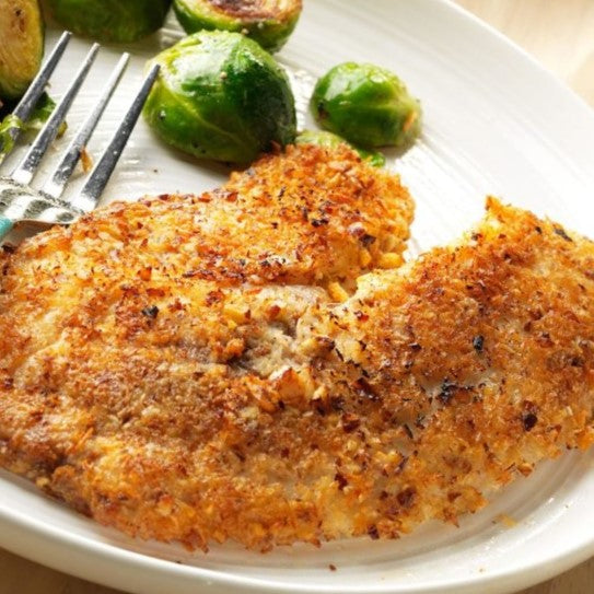 Walnut & Coconut Crusted Tilapia