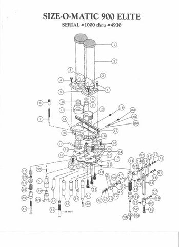 900 (#1000-4931) Exploded View & Price List