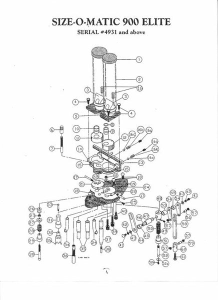 900 (#4932 & up) Exploded View & Parts List