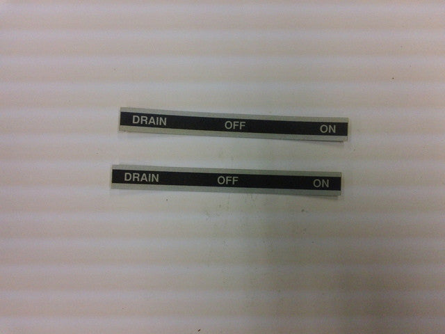Size050300 - Drain, Off & On Sticker
