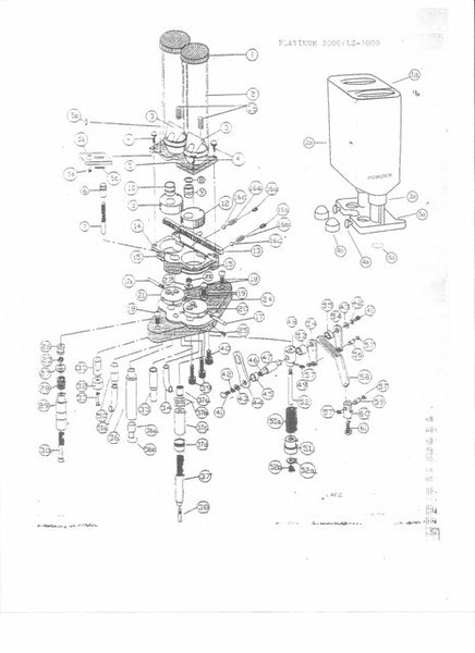 Plat2000, L/S-1000 & 950 Exploded View & Parts List