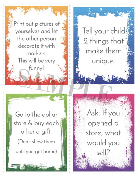 ONE ON ONE TIME PRINTABLE CARDS