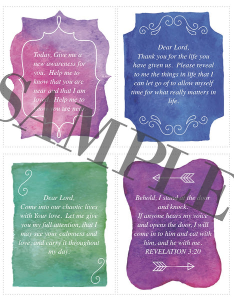 Lent Prayer Cards