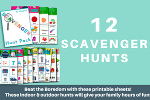 Scavenger Hunt Printable Pack - 12 Sheets!