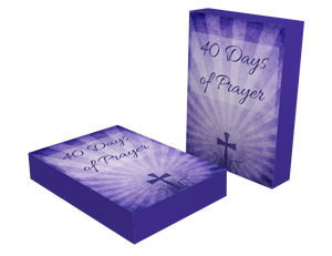 40 Days of Prayer Lent Printable Cards