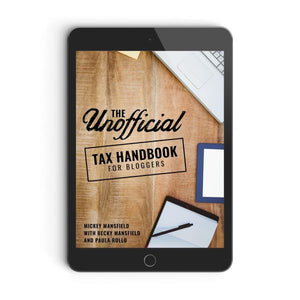 The Unofficial Tax Handbook for Bloggers