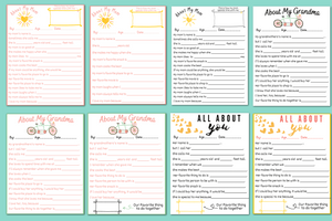 Mother's Day Printable: Mom Questionnaire & Grandma Questionnaire 8 Pack (instant download!)