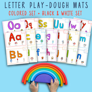 Letter Play Dough Mats - Learn the ABC's with Play-Doh! Two Sets of 26-Printable Play-Doh Mats