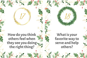 Christmas Countdown Cards: Meaningful Conversation Starters for Families