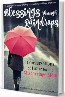 Blessings Through Raindrops - Conversations of Hope for the Miscarriage Mom