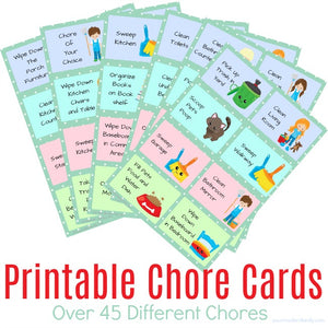 Printable Chore Cards