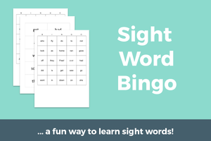 Sight Word Bingo (with 8 different Bingo Boards)