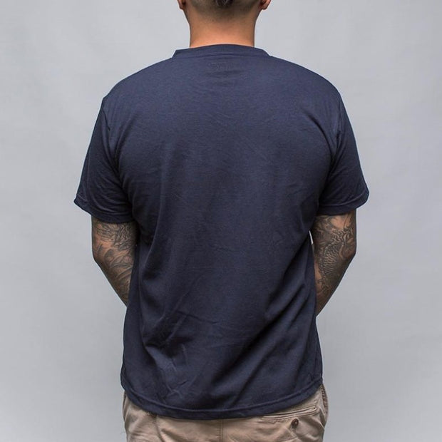 Earth V-Neck T-Shirt, Navy - Hamilton Perkins Collection