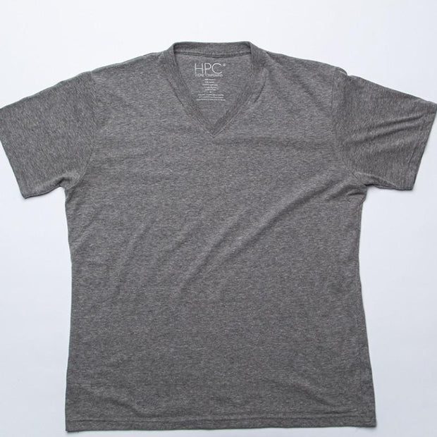 Earth V-Neck T-Shirt, Gray - Hamilton Perkins Collection