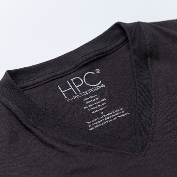 Earth V-Neck T-Shirt, Black - Hamilton Perkins Collection