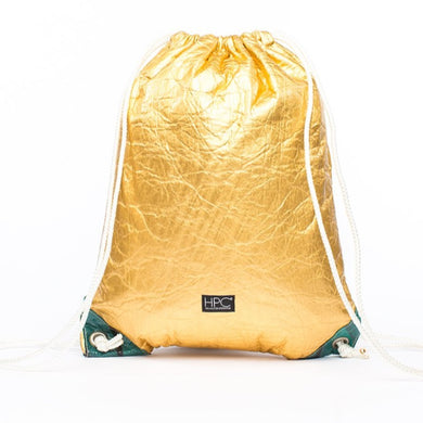 Earth Bag Drawstring, Gold Pineapple - Hamilton Perkins Collection