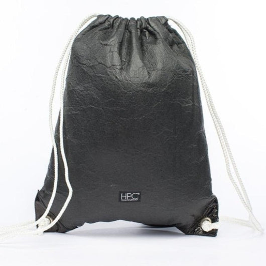 Earth Bag Drawstring, Black Pineapple - Hamilton Perkins Collection