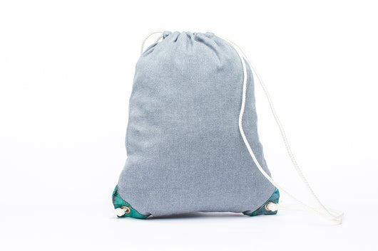 Earth Bag Drawstring, Carolina Blue - Hamilton Perkins Collection