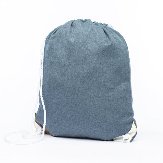 Earth Bag Drawstring, Navy - Hamilton Perkins Collection