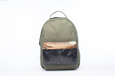 Earth Bag Standard, Olive + Billboard Pocket (Light Billboard Series) - Hamilton Perkins Collection
