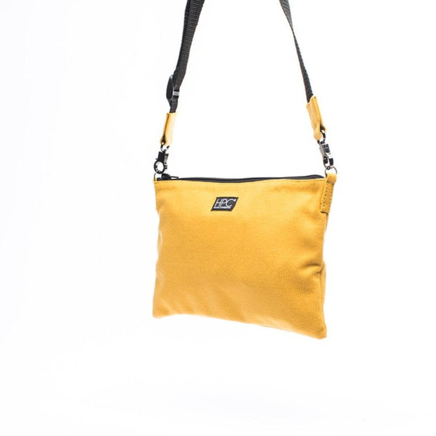 Yellow - Recycled Plastic Water PET Bottles - Recycled - Hamilton Perkins Collection - Crossbody - Front - Sustainability