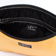 Yellow - Recycled Plastic Water PET Bottles - Recycled - Hamilton Perkins Collection - Crossbody - Inside - Sustainability