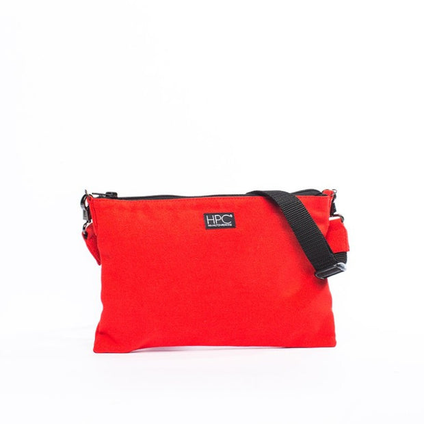Red - Recycled Plastic Water PET Bottles - Recycled - Hamilton Perkins Collection - Crossbody - Front - Sustainability