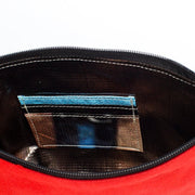 Red - Recycled Plastic Water PET Bottles - Recycled - Hamilton Perkins Collection - Crossbody - Inside - Sustainability