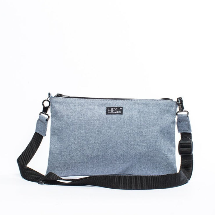 Carolina Blue - Recycled Plastic Water PET Bottles - Recycled - Hamilton Perkins Collection - Crossbody - Front - Sustainability