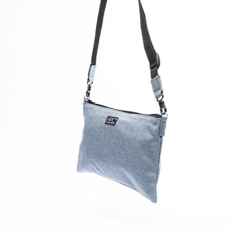 Carolina Blue - Recycled Plastic Water PET Bottles - Recycled - Hamilton Perkins Collection - Crossbody - Side - Sustainability
