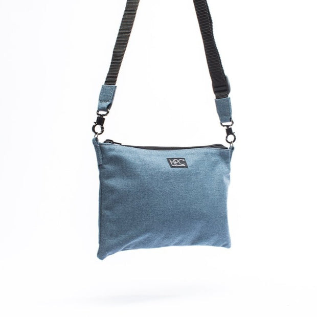 Navy - Recycled Plastic Water PET Bottles - Recycled - Hamilton Perkins Collection - Crossbody - Front - Sustainability