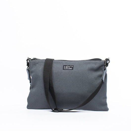 Earth Bag Crossbody, Smoke Gray - Hamilton Perkins Collection