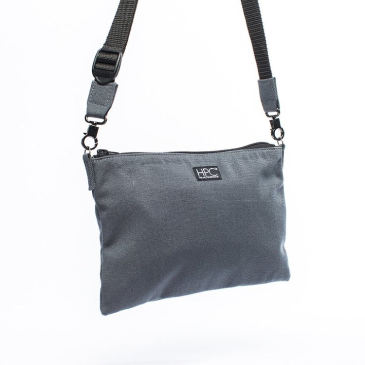 Smoke Gray - Recycled Plastic Water PET Bottles - Recycled - Hamilton Perkins Collection - Crossbody - Front - Sustainability