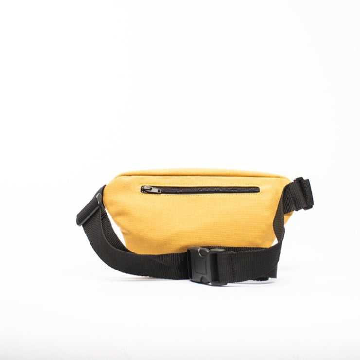 Yellow - Recycled Plastic Water PET Bottles - Recycled - Fanny Pack - Hamilton Perkins Collection - Billboard Vinyl - Rear - Sustainability