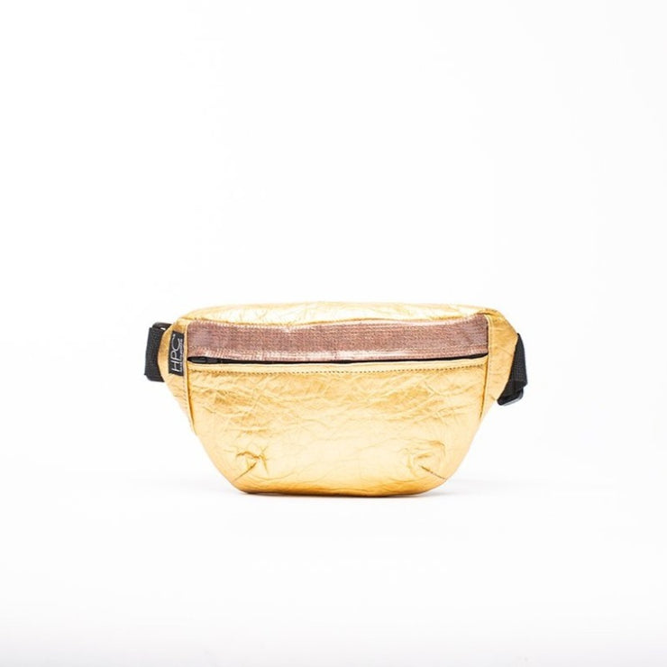 Gold - Pinatex - Pineapple - Fanny Pack - Hamilton Perkins Collection - Earth Bag Slim - Front - Sustainability
