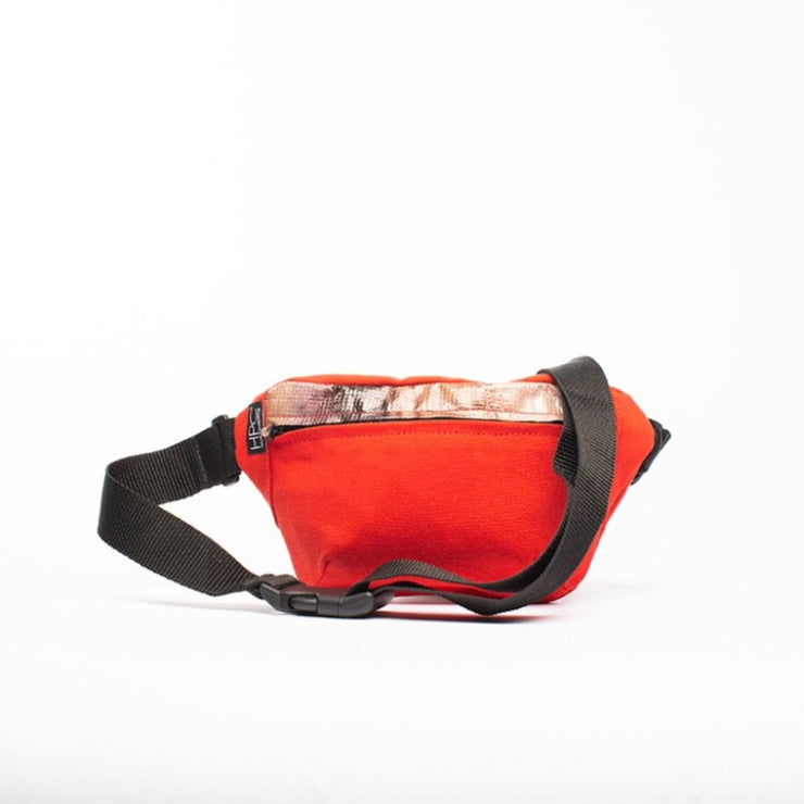 Red - Recycled Plastic Water PET Bottles - Recycled - Fanny Pack - Hamilton Perkins Collection - Billboard Vinyl - Front - Sustainability