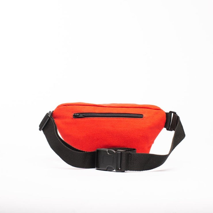 Red - Recycled Plastic Water PET Bottles - Recycled - Fanny Pack - Hamilton Perkins Collection - Billboard Vinyl - Rear - Sustainability