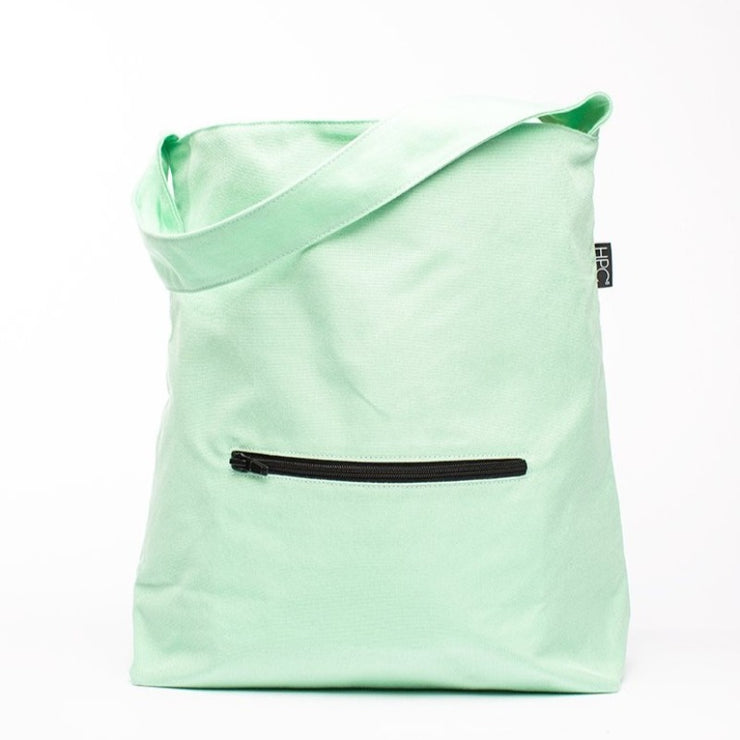 Seafoam Green - Recycled Plastic Water PET Bottles - Recycled - Hobo - Hamilton Perkins Collection - Earth Bag Hobo - Front - Sustainability