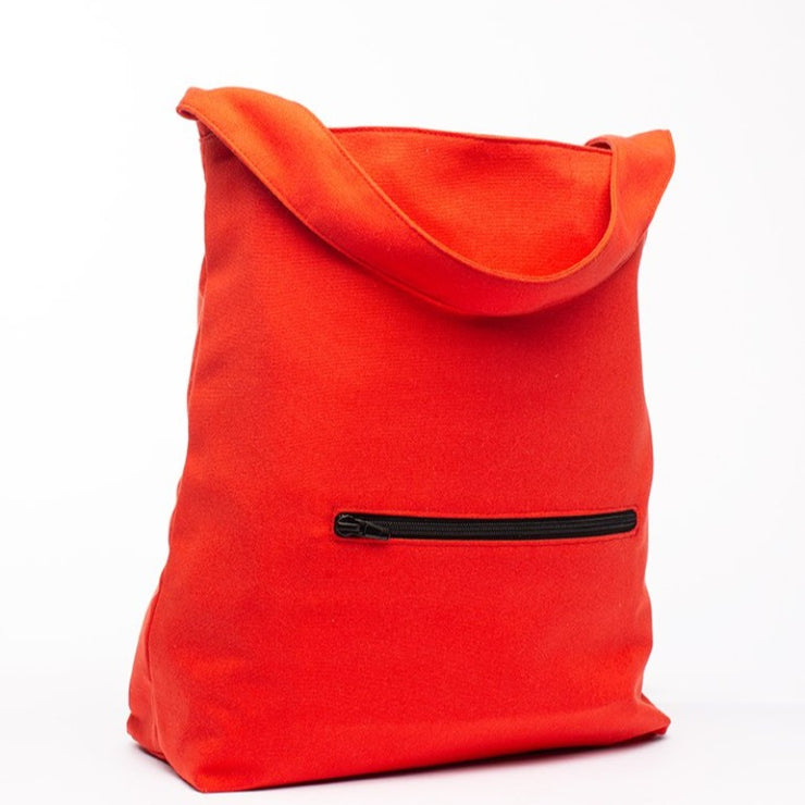 Earth Bag Hobo, Red - Hamilton Perkins Collection