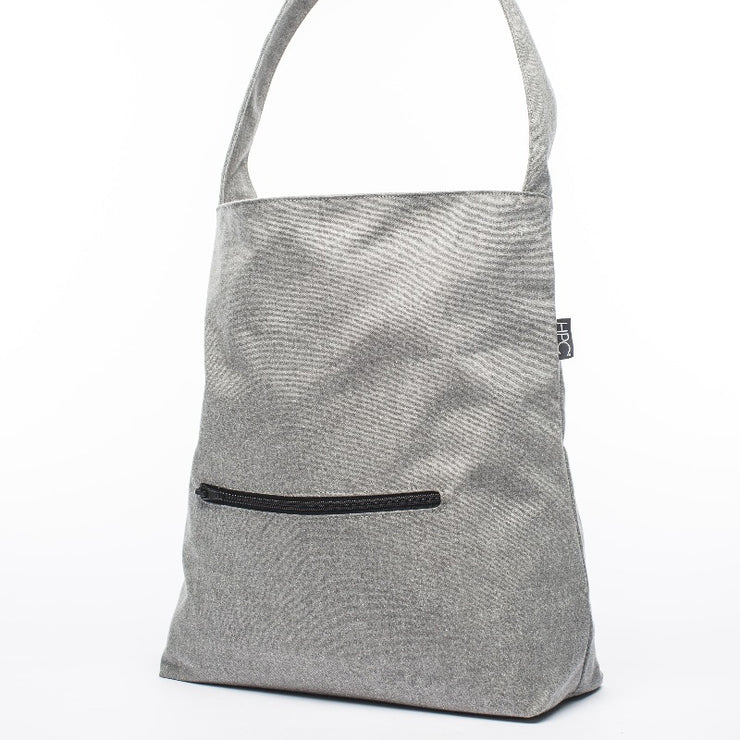 Earth Bag Hobo, Gray - Hamilton Perkins Collection