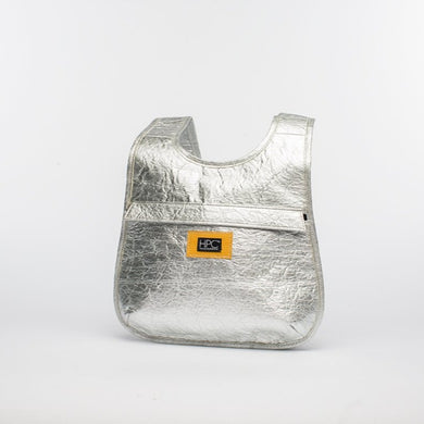 Earth Bag Slim, Silver Pineapple - Hamilton Perkins Collection
