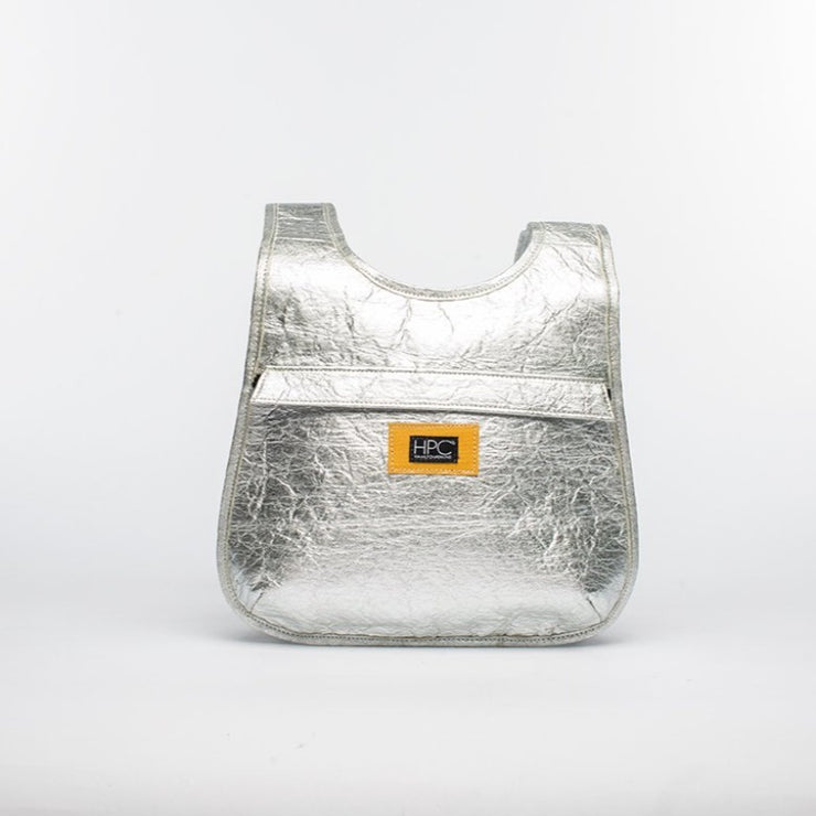 Silver - Pinatex - Pineapple - Backpack - Hamilton Perkins Collection - Earth Bag Slim - Front - Sustainability